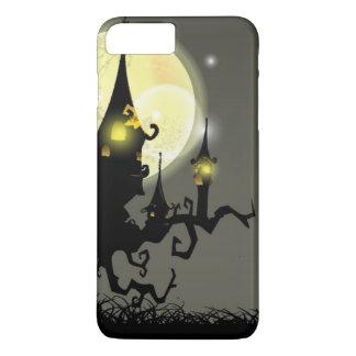 Coque iPhone 7 Plus Arrière - plan de nuit de pleine lune de Halloween