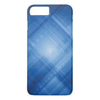Coque iPhone 7 Plus Arrière - plan de pointe bleu-foncé