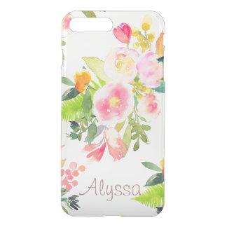 Coque iPhone 7 Plus Arrière - plan du ressort Bouquet/DIY de