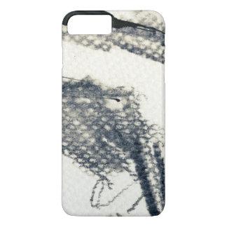 Coque iPhone 7 Plus Arrière - plan grunge abstrait, texture d'encre. 3