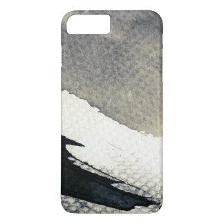 Coque iPhone 7 Plus Arrière - plan grunge abstrait, texture d'encre. 4