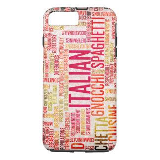 Coque iPhone 7 Plus Arrière - plan italien de menu de nourriture et de