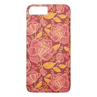 Coque iPhone 7 Plus Arrière - plan vertical de motif de jardin de