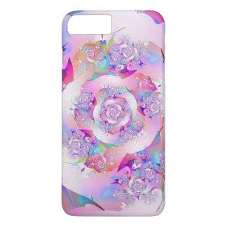 Coque iPhone 7 Plus Art fin de fractale de premier rose