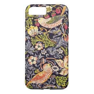 Coque iPhone 7 Plus Art floral Nouveau de voleur de fraise de William