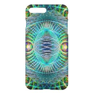 Coque iPhone 7 Plus Art impressionnant de fractale de turquoise