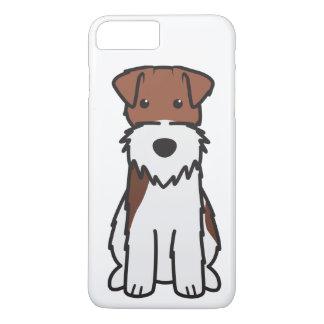 Coque iPhone 7 Plus Bande dessinée de chien de Fox Terrier de fil