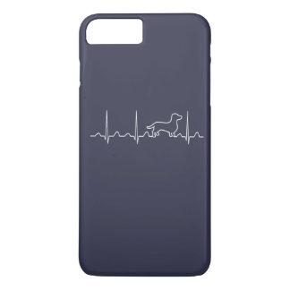 Coque iPhone 7 Plus Battement de coeur de teckel