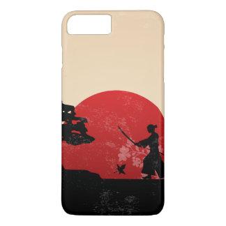 Coque iPhone 7 Plus Beau cas samouraï japonais de téléphone du coucher