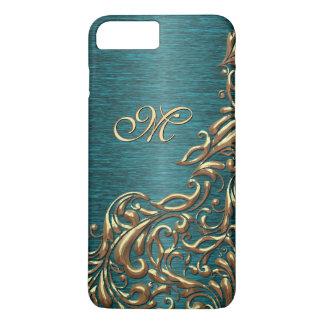 Coque iPhone 7 Plus Beau motif floral baroque chic fait sur commande