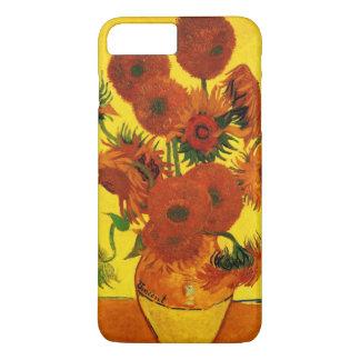 Coque iPhone 7 Plus Beaux-arts de Van Gogh, vase avec 15 tournesols