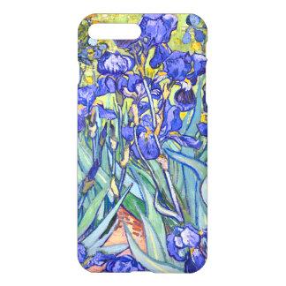Coque iPhone 7 Plus Beaux-arts vintages floraux d'iris de Vincent van