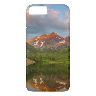 Coque iPhone 7 Plus Bells marron se reflètent dans le lac marron calme