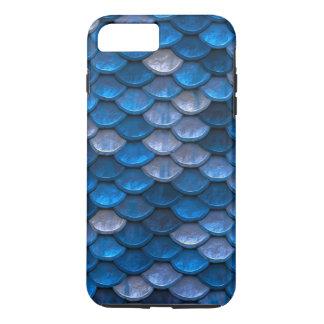 Coque iPhone 7 Plus Bleus de miroitement de motif d'échelles de