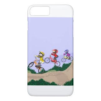 Coque iPhone 7 Plus BMX cyclisme enfants en baissant la colline avec
