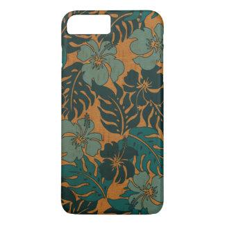 Coque iPhone 7 Plus Bois vintage de Faux de ketmie hawaïenne de baie