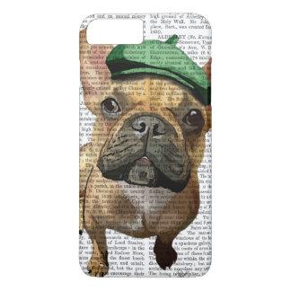 Coque iPhone 7 Plus Bouledogue français de Brown avec le casquette