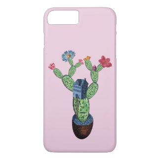 Coque iPhone 7 Plus Cactus épineux avec des fleurs