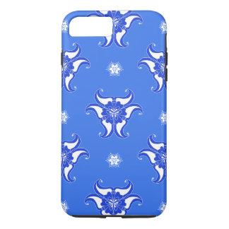 Coque iPhone 7 Plus caisse bleue de téléphone de conception de motif