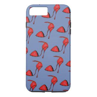 Coque iPhone 7 Plus Caisse rouge de téléphone de chaussure de tango