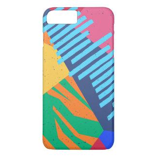 Coque iPhone 7 Plus Caisse tropicale abstraite colorée de téléphone de