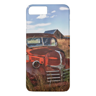 Coque iPhone 7 Plus Camion orange de rouillement de Dodge avec la
