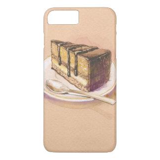 Coque iPhone 7 Plus Carte avec le gâteau peint d'aquarelle