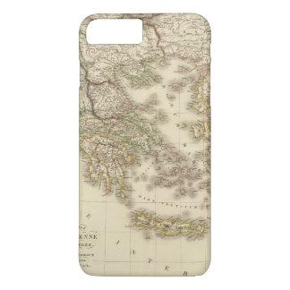 Coque iPhone 7 Plus Carte d'atlas de la Grèce historique, Paris