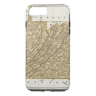 Coque iPhone 7 Plus Carte d'atlas de la Virginie