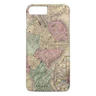 Coque iPhone 7 Plus Carte de Boston par Mitchell