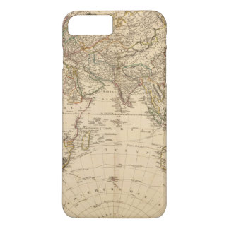 Coque iPhone 7 Plus Carte de circulaire d'hémisphère oriental