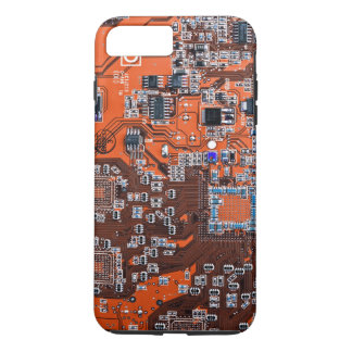Coque iPhone 7 Plus Carte de geek d'ordinateur - orange