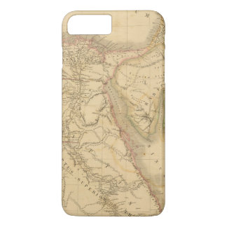 Coque iPhone 7 Plus Carte de l'Egypte, de la Palestine et de l'Arabie