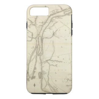 Coque iPhone 7 Plus Carte de Rivière Détroit