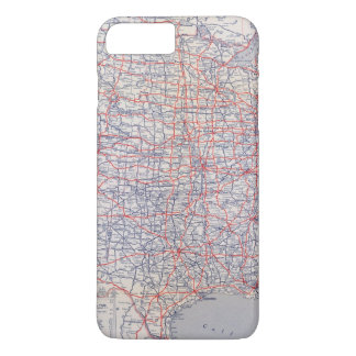 Coque iPhone 7 Plus Carte de route Etats-Unis