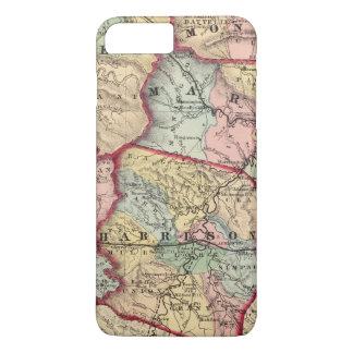 Coque iPhone 7 Plus Carte de Winfield, la Virginie Occidentale