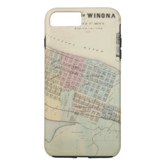 Coque iPhone 7 Plus Carte de Winona, Minnesota