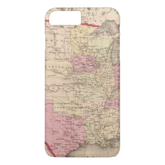 Coque iPhone 7 Plus Carte des Etats-Unis 5