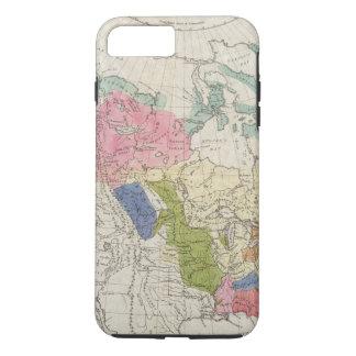 Coque iPhone 7 Plus Carte des tribus indiennes de l'Amérique du Nord