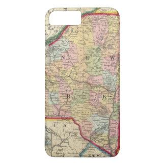Coque iPhone 7 Plus Carte du comté des états de New York