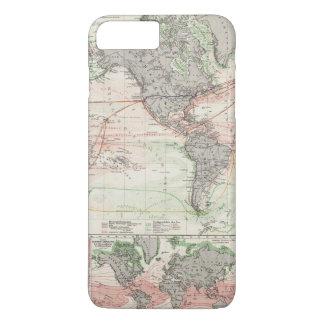 Coque iPhone 7 Plus Carte du monde des courants d'océan