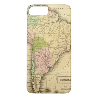 Coque iPhone 7 Plus Carte du sud d'AmericaOlney