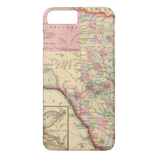 Coque iPhone 7 Plus Carte du Texas par Mitchell
