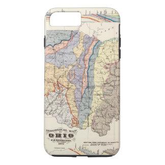Coque iPhone 7 Plus Carte géologique de l'Ohio