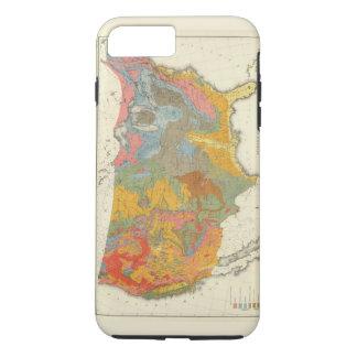 Coque iPhone 7 Plus Carte géologique des USA