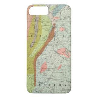 Coque iPhone 7 Plus Carte géologique du New Hampshire 3