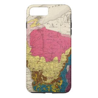 Coque iPhone 7 Plus Carte géologique du Wisconsin