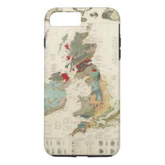 Coque iPhone 7 Plus Carte géologique et paléontologique composée