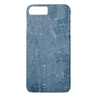 Coque iPhone 7 Plus Carte graphique de Boston