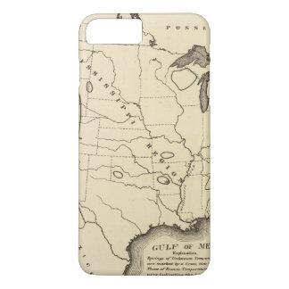 Coque iPhone 7 Plus Carte, Hot Springs, Etats-Unis